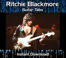 RITCHIE BLACKMORE & RAINBOW ROCK GUITAR TAB TABLATURE DOWNLOAD SOFTWARE