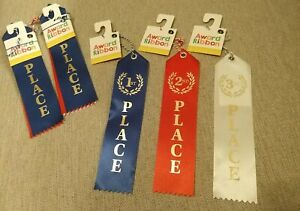 AWARD RIBBONS (Lot of 15) 5 of Each- 1st, 2nd, 3rd Place - Brand New