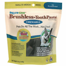 Ark Naturals Breath-Less Brushless Tooth Paste for Small to Medium Dogs, 12 oz.