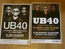 UB40 - Scottish tour Glasgow concert gig posters x 2
