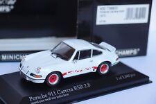 MINICHAMPS PORSCHE 911 CARRERA RSR 2.8 GRANX PRIX WEISS MIT INDISCHROT 1973 1/43