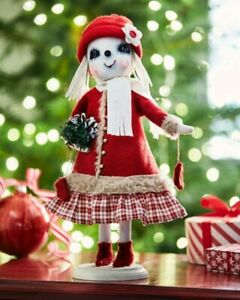 """JOE SPENCER GATHERED TRADITIONS """"CATHERINE"""" SNOWMAN 73239 NEW * FREE SHIPPING"""