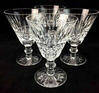 4 Waterford Tramore Crystal Water Goblet Glasses 5 5/8