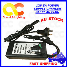 AU Plug DC 12V 5A 60W Power Supply Charger Adaptor Transformer LED Strip Adaptor