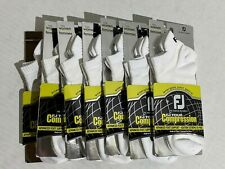 FootJoy Women's FJ Tour Compression Sport Tab Socks (7-Pack) White Sz 6-9