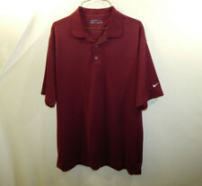 Nike Golf Fit Dry Short Sleeve Polo Shirt Maroon Size LARGE L Mens Clothing