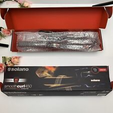 "Solano SmoothCurl 450 1-1/4"" Ceramic Marcel Curling Iron New"