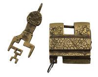 Lucchetto Tibetano Da Bagagliaio Originale Fantasia Ottone Artigianale Fatto