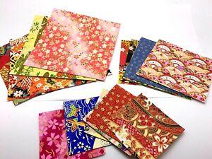 Japanese 20 Sheets Origami Washi Paper Random Craft Various Sizes UK SELLER