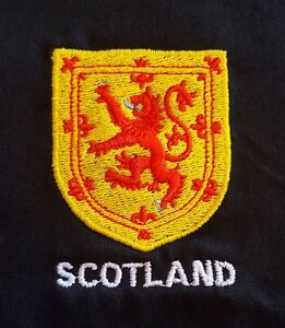 LION RAMPANT SHIELD  DESIGN EMBROIDERED ONTO A TEE SHIRT SCOTLAND SCOTTISH SCOTS