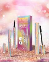 QIC 4D Silk Fibre Long Lasting Waterproof Lash Starry Mascara Eyeliner Gift Sets