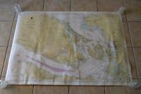 Noaa Nautical Map Strait of Georgia Boating Navigation Decor Juan De Fuca 1997