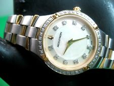 BULOVA ACCUTRON SWISS MADE 28R122 LADIES CASUAL WATCH 47 REAL DIAMONDS / ANALOG