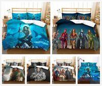 3D Aquaman Hero Duvet Cover Quilt Cover Bedding Set Comforter Cover Pillowcases