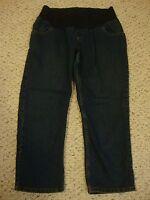 Women's MOTHERHOOD MATERNITY jean capri pants, M