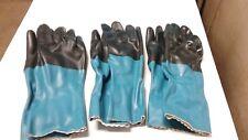 "3 PR. Mapa Stanzoil NL34 - 12"" Length - Smooth Finish Neoprene Gloves - Small"