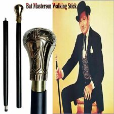 Bat Masterson Brass Handle Antique Style Victorian Cane Wooden Walking Stick