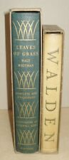 Walt Whitman Leaves of Grass Rockwell Kent Illus +Thoreau Walden Heritage S/Case