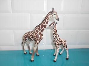 Lot Figurines PAPO 2008 animaux girafe et girafon