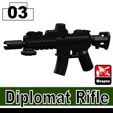 Diplomat (W69) Assault Rifle Compatible with toy brick minifigures M4 Army Rifle