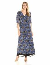 James & Erin Women's Angel-Sleeve Maxi Dress, Mulit, Small