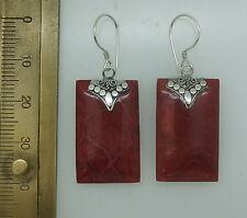 P Orecchini Corallo rosso realizzato a mano Dangle in Argento Sterling 925
