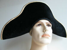 ADULT MENS FRENCH ARMY 18TH CENTURY GENERAL NAPOLEON BONAPARTE COSTUME HAT BLACK