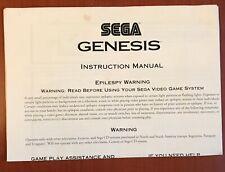 Sega Genesis - console system manual