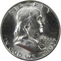 1955 50c Franklin Silver Half Dollar US Coin Uncirculated Mint State