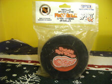 "Detroit Red Wings Hockey Puck Bank NHL Rare Collectable 4 3/4"" FREE SHIPPING"
