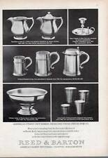 1972 Reed & Barton Early American Reproduction Pewter PRINT AD