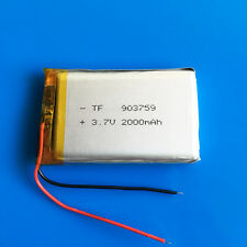 3.7v 2000mAh li po battery for PC DVD GPS Cell Phone Camera Recorder PAD 903759