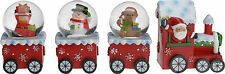 Cute Christmas Train Decoration 4 Piece Snow Globe Train Decoration 3 Snowglobes