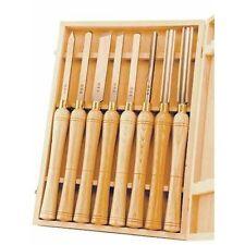 Wood Lathe Chisels Box Set Gouge Skew Woodworking Turning Tools Carving Handles