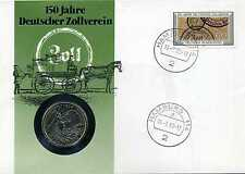 Numisbrief Deutschland 1988 150 Jahre Deutscher Zollverein mit 5 DM 1984 N_068