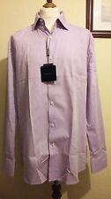 HOLLAND ESQUIRE Chevron Pattern Long Sleeve shirt Lilac Size 17.5  (XL)