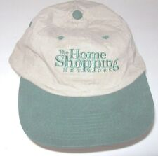 Home Shopping Network Baseball Cap Hat Embroidered Green Tan Adjustable Back
