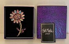 Bob Mackie's Formal Garden Rhinestone Crystals Flower Pin Brooch QVC NIB