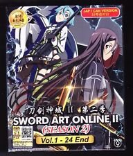 ** SWORD ART ONLINE SEASON 2 **25 ANIME EPISODES*ENGLISH SUBTITLE*USA SELLER*DVD