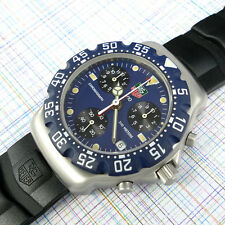 TAG Heuer Formula 1 Chronograph Blue Dial 570.513 New Bezel Rubber Strap TAG Box