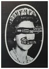 "Reproduction ""Sex Pistols - God Save the Queen"" Poster, Punk, Johnny Rotten"