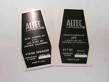 "ALTEC 416-8A or 417-8c Loudspeaker Driver  ""DECAL"" New!"