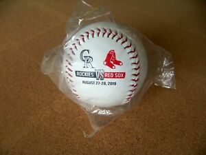 2019 Colorado Rockies vs Boston Red Sox Interleague baseball ball MLB c36178