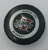 KC Blades Puck Vintage IHL Hockey Team Kansas City In Container Official Game
