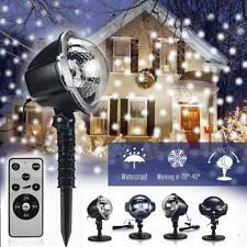 Schneefall LED Laser Licht Projektor Beleuchtung Weihnachtsdekoration Garten