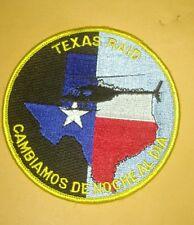 Vintage Texas Raid Cambiamos De Noche Al Dia Police Patch Helicopter Rare!!!
