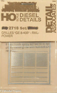 """Detail Associates- #2718 Grilles for """"GE 8-40B"""" Rail Power (Stainless Steel)"""