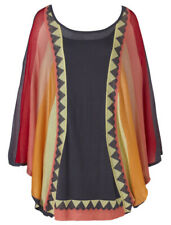 French Connection RANCH Fine Knit Batwing Colour Block Tunic Mini Dress Size S