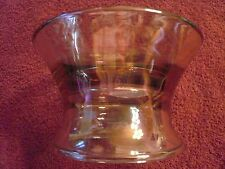 VINTAGE CANDELABRA SHADE VOTIVE CANDLE HOLDER THICK SMOKED CARNIVAL GLASS RARE