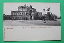 Sachsen AK Dresden 1900 Kgl Opernhaus Theaterplatz König Johann Denkmal Straße +